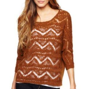 I Jeans by Buffalo Callas Crochet Mustard Sweater